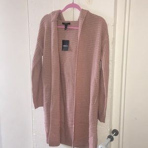 Pink Knit Cardigan w/ Hood from F21